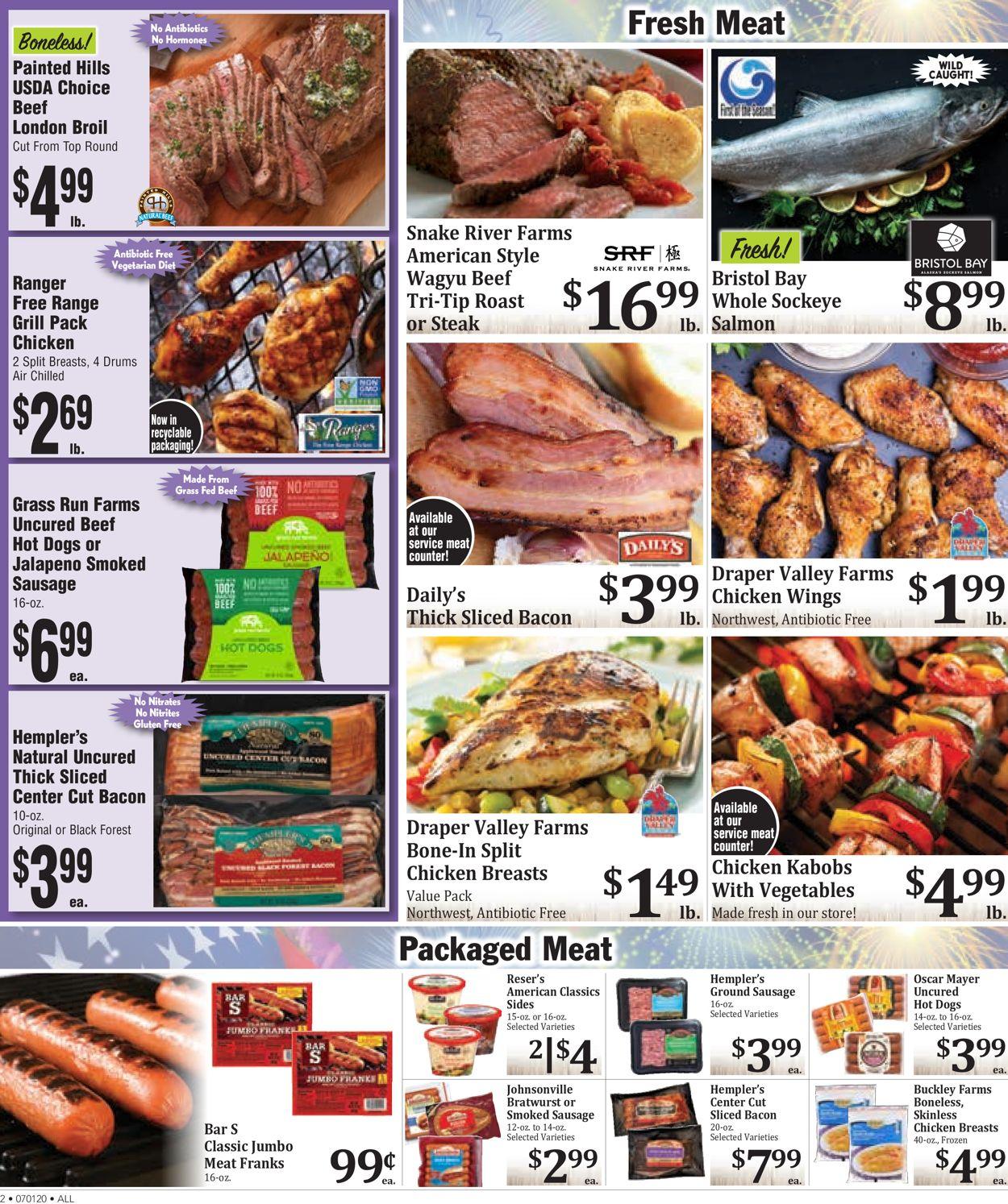 Rosauers Weekly Ad Circular - valid 07/01-07/07/2020 (Page 2)