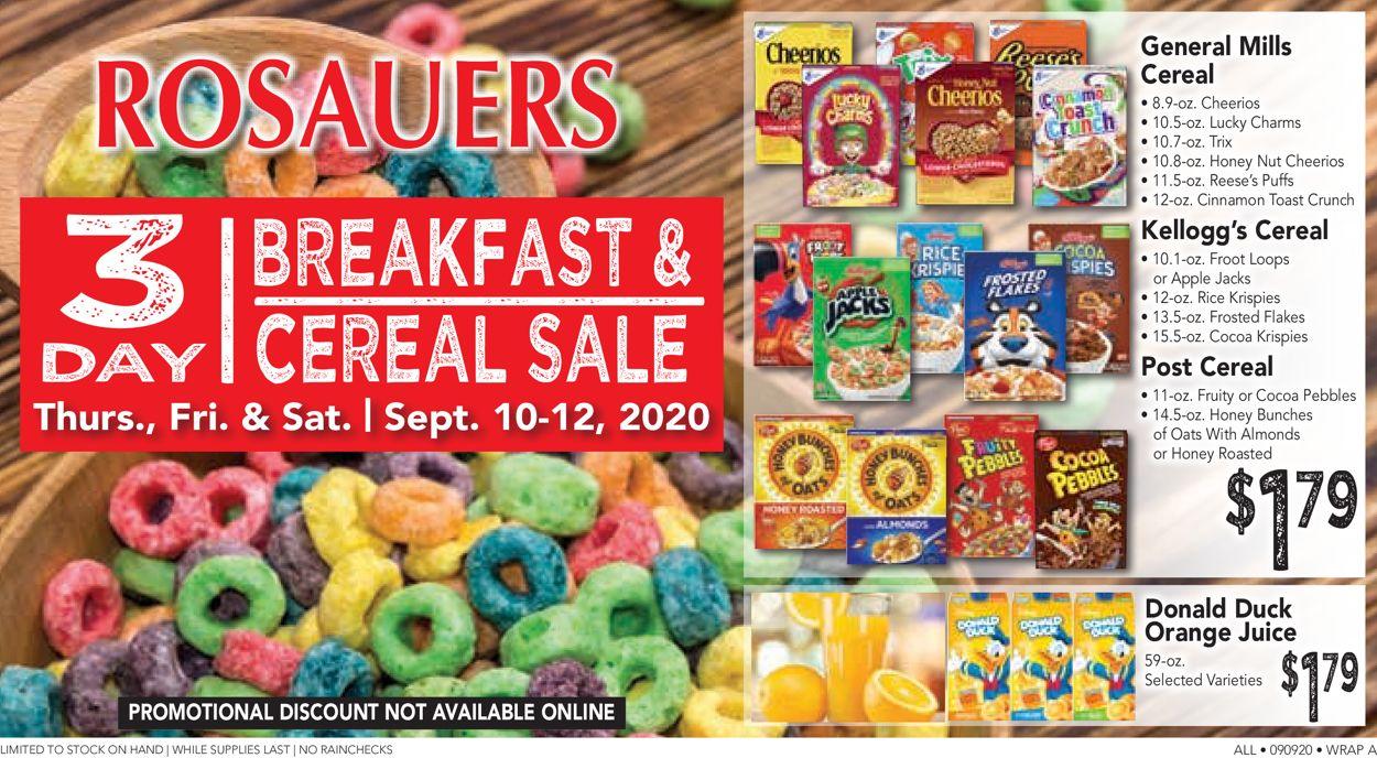 Rosauers Weekly Ad Circular - valid 09/10-09/12/2020