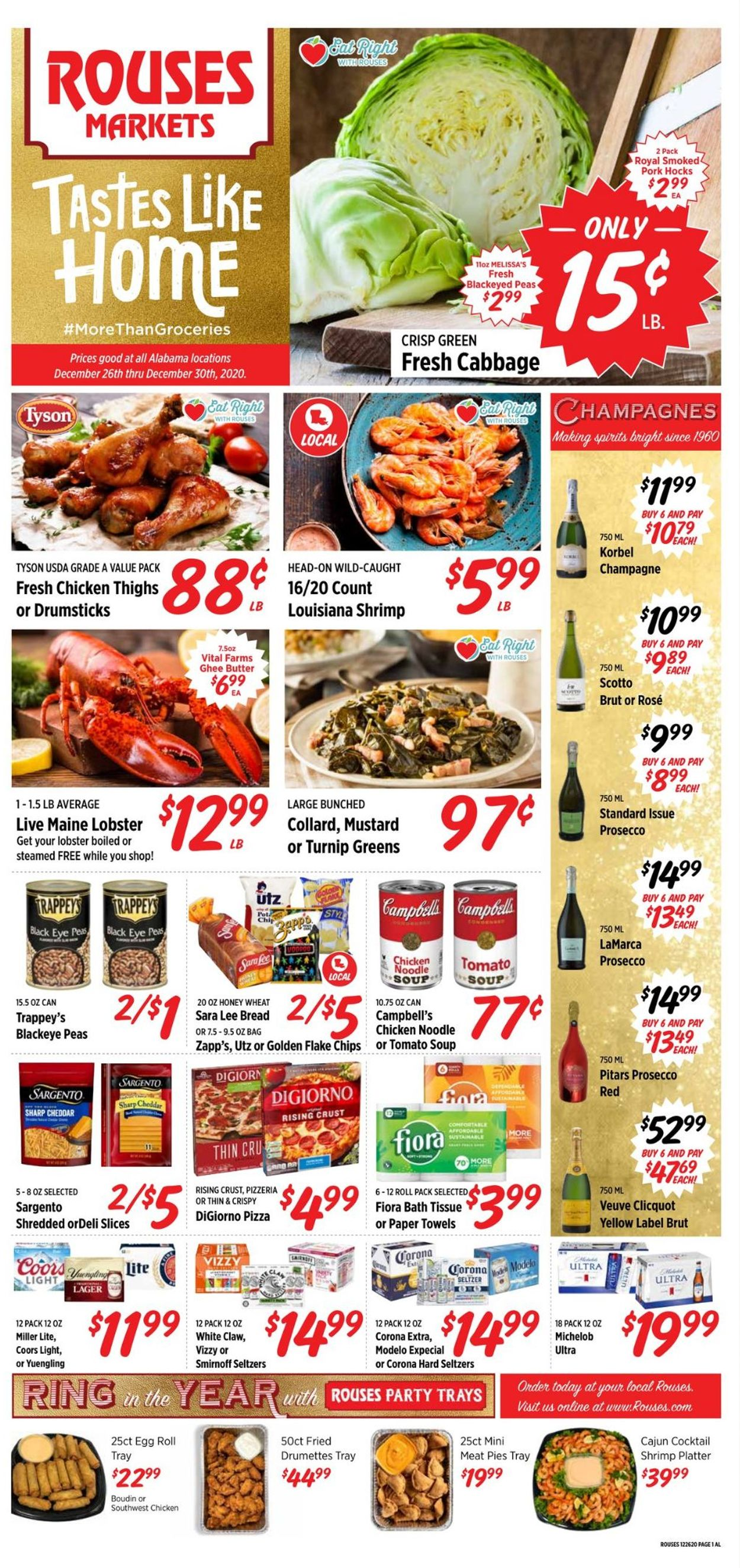 Rouses Weekly Ad Circular - valid 12/26-12/30/2020