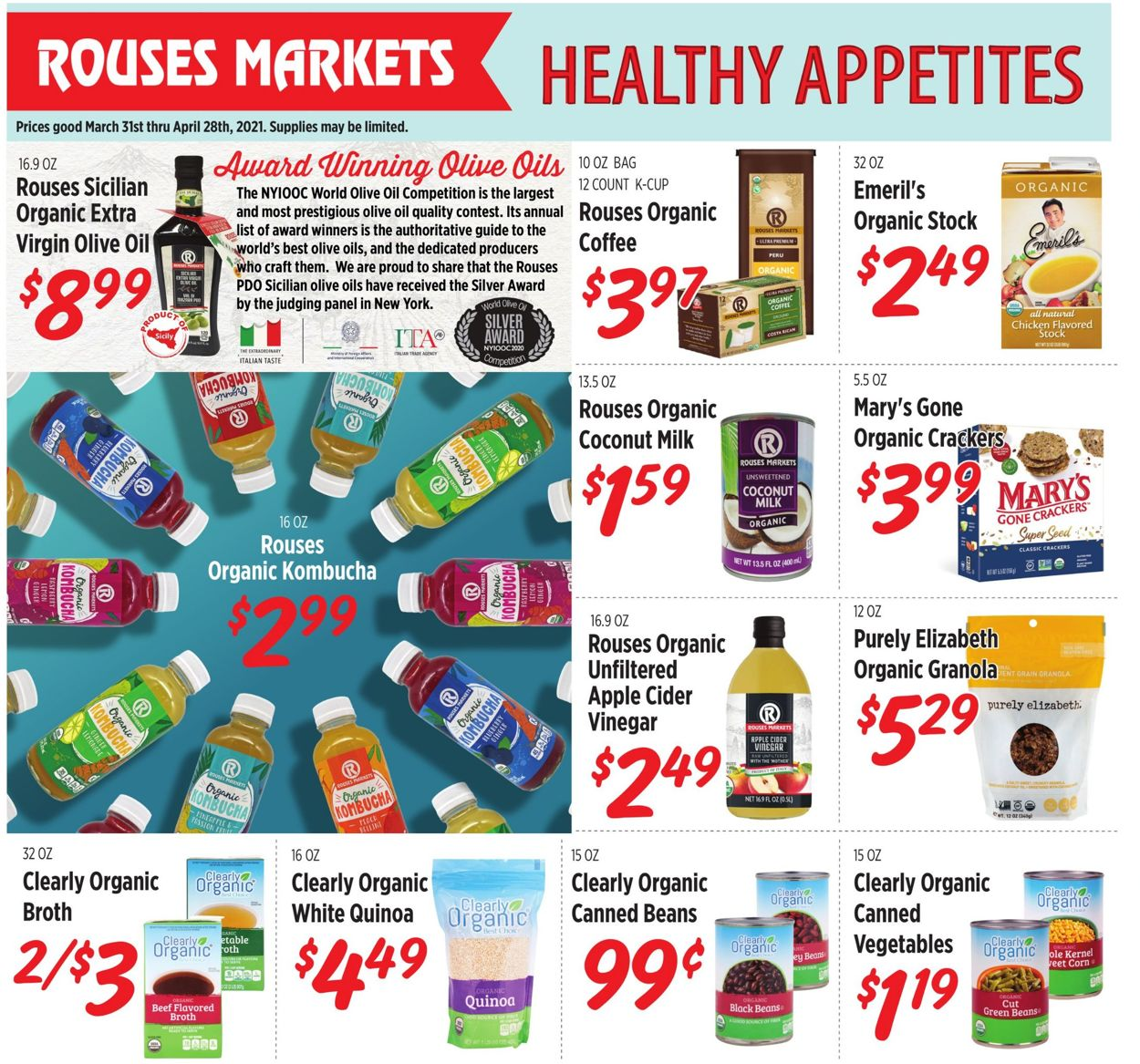 Rouses Easter 2021 Weekly Ad Circular - valid 03/31-04/28/2021