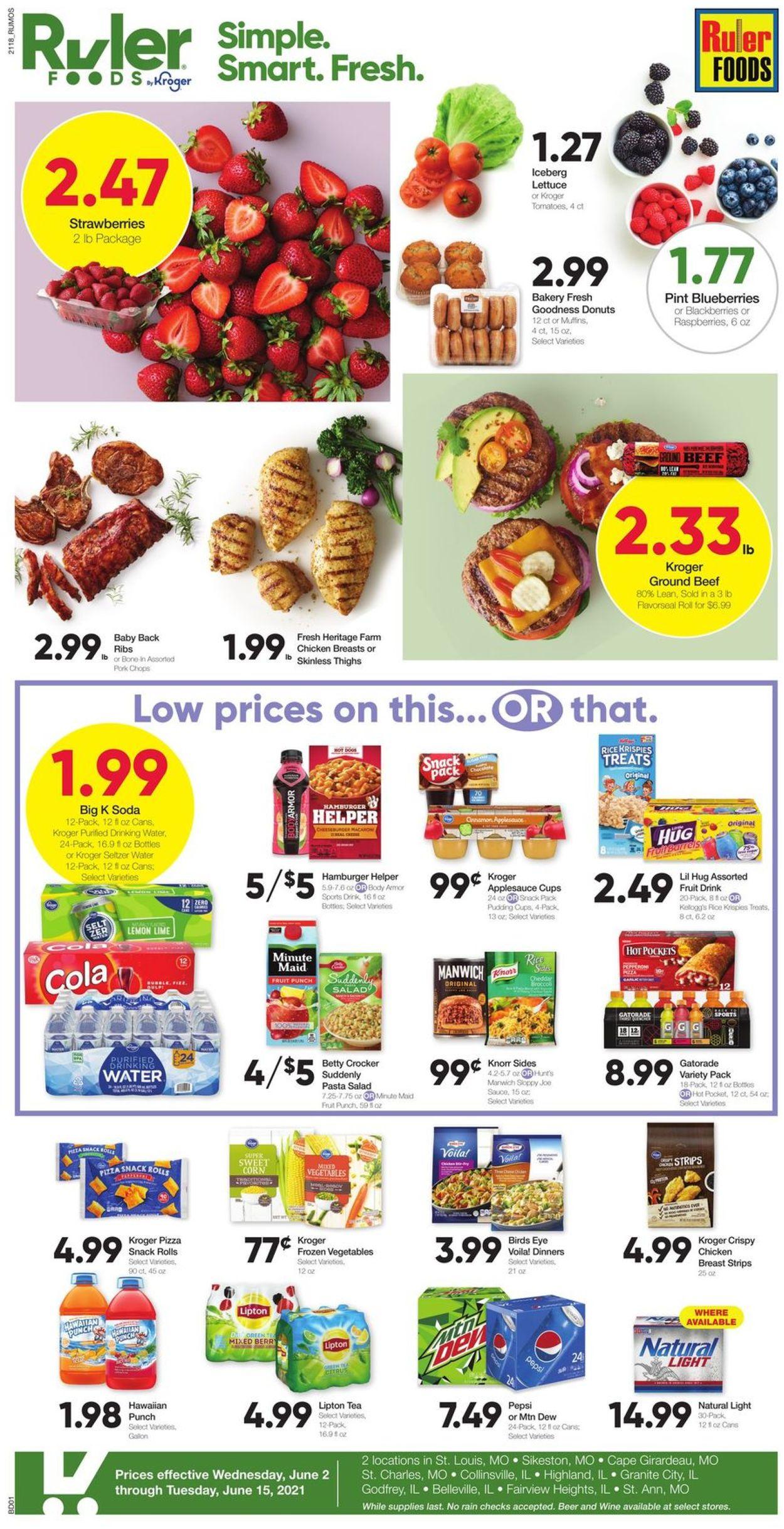 Ruler Foods Weekly Ad Circular - valid 06/02-06/15/2021