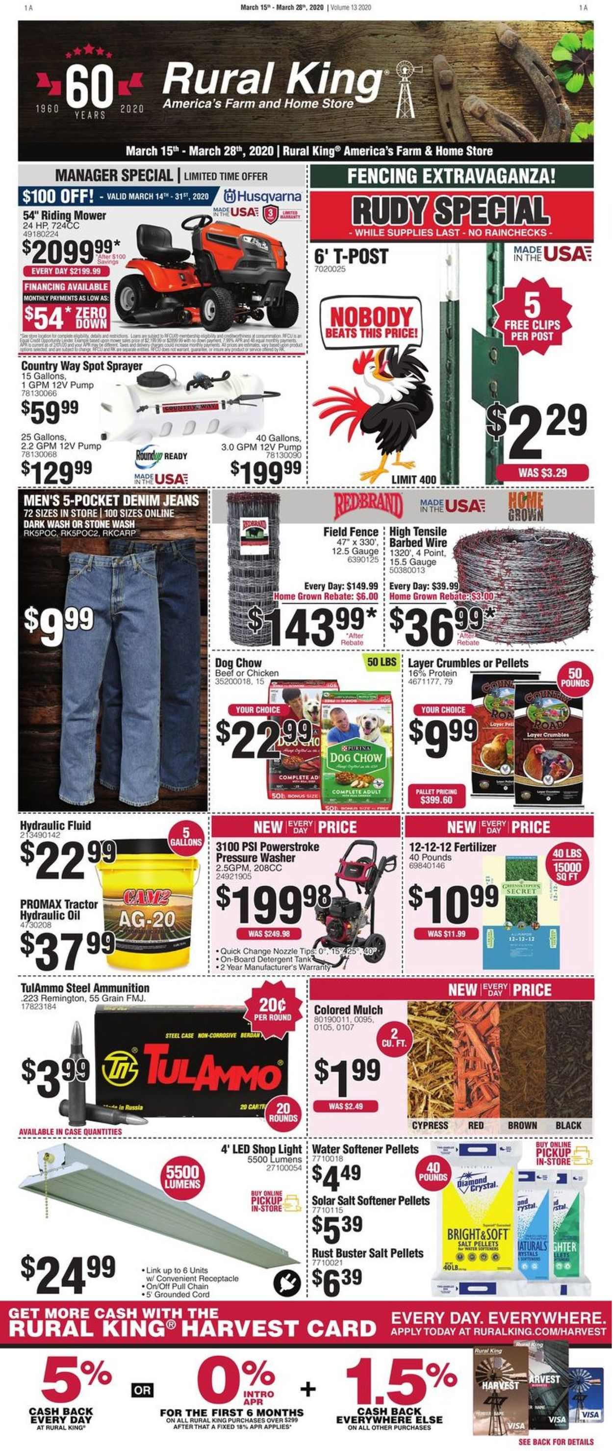 Rural King Weekly Ad Circular - valid 03/15-03/28/2020