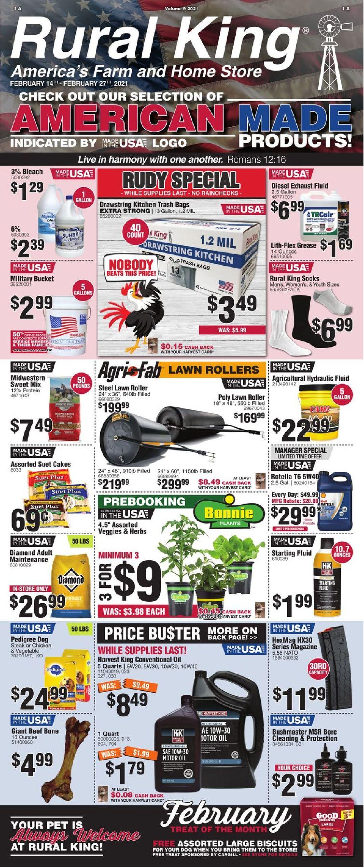 Rural King Weekly Ad Circular - valid 02/14-02/27/2021