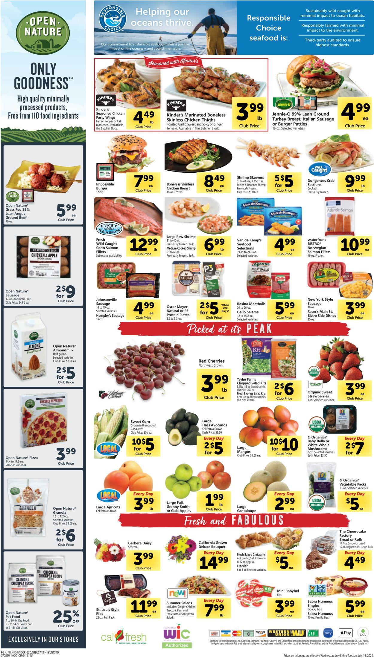 Safeway Weekly Ad Circular - valid 07/08-07/14/2020 (Page 4)