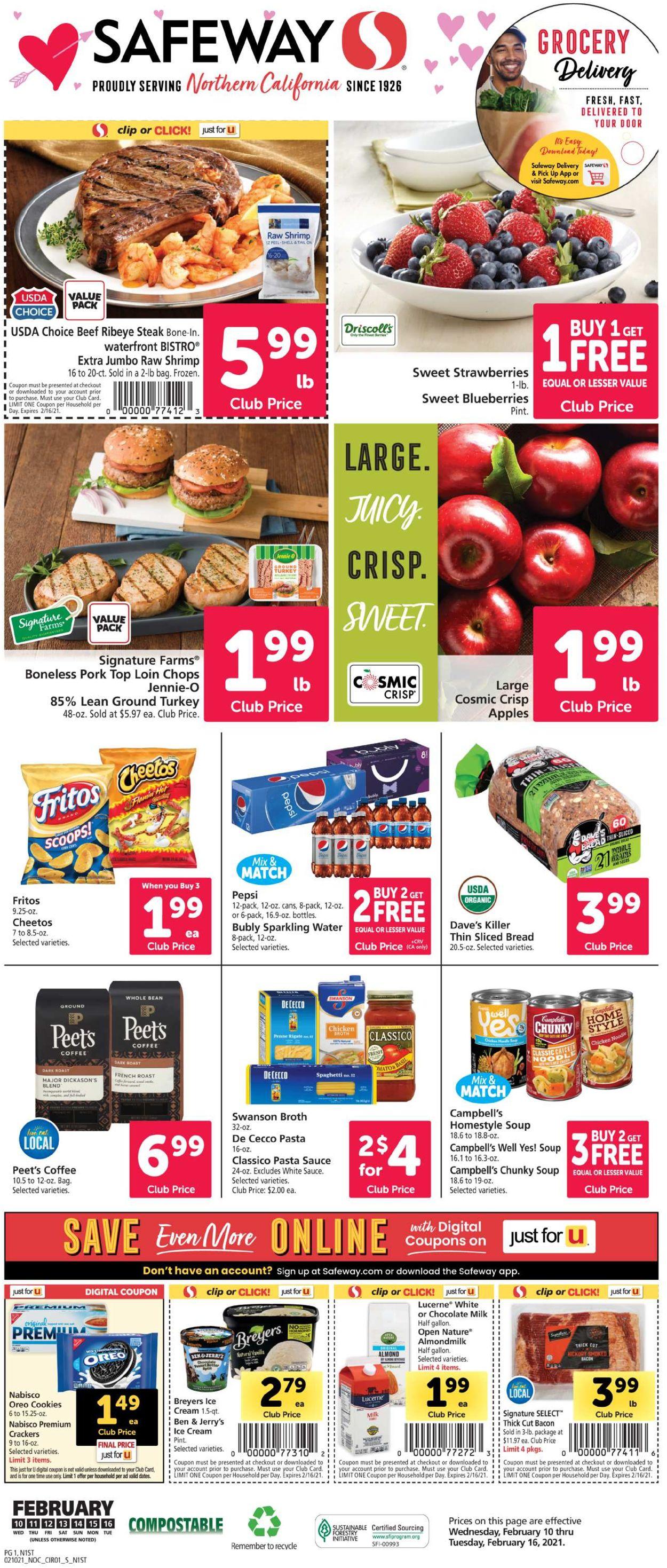 Safeway Weekly Ad Circular - valid 02/10-02/16/2021