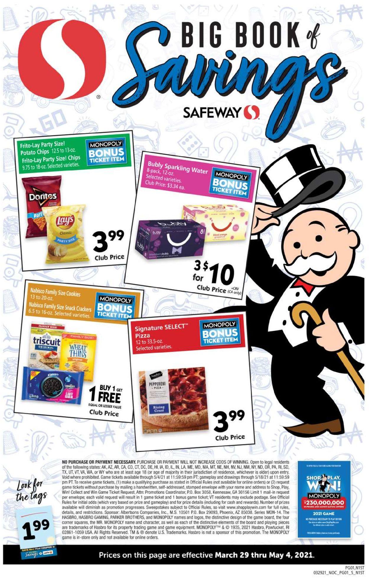 Safeway Weekly Ad Circular - valid 03/29-05/04/2021