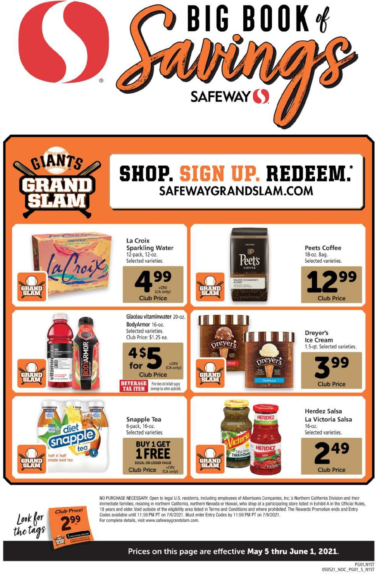 Safeway Weekly Ad Circular - valid 05/05-06/01/2021
