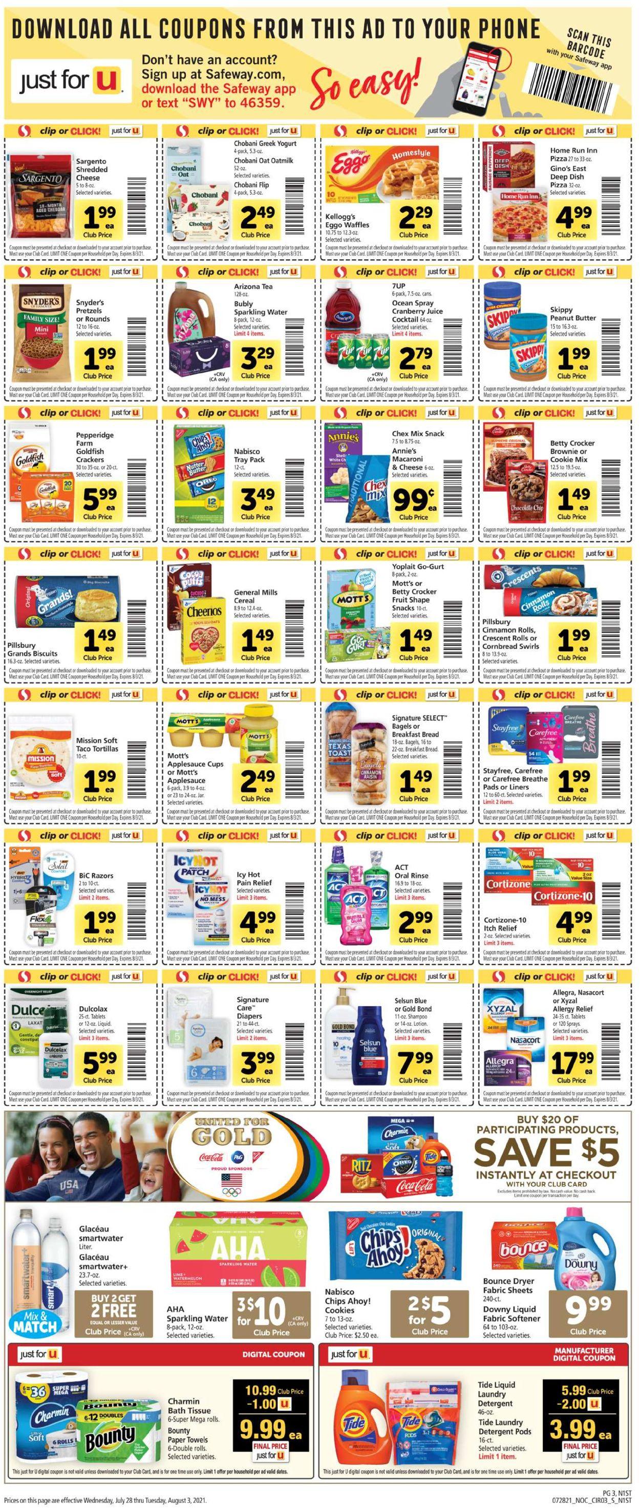Safeway Weekly Ad Circular - valid 07/28-08/03/2021 (Page 3)
