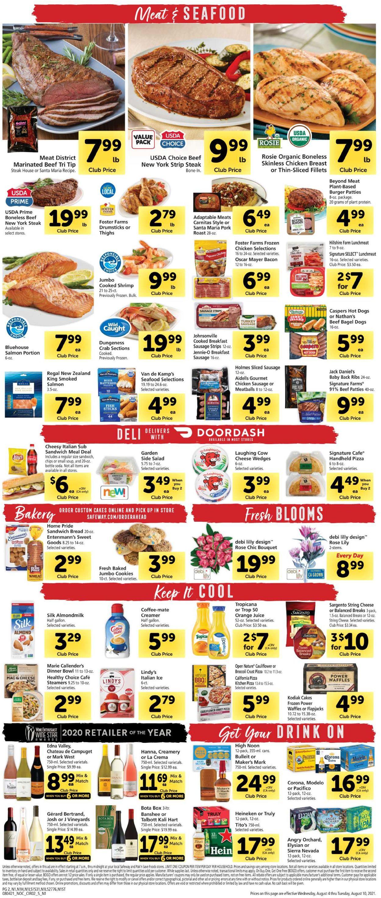 Safeway Weekly Ad Circular - valid 08/04-08/10/2021 (Page 2)