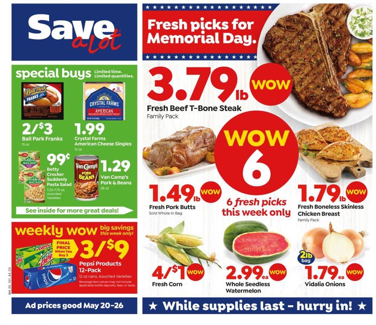 Save a Lot Weekly Ad Circular - valid 05/20-05/26/2020