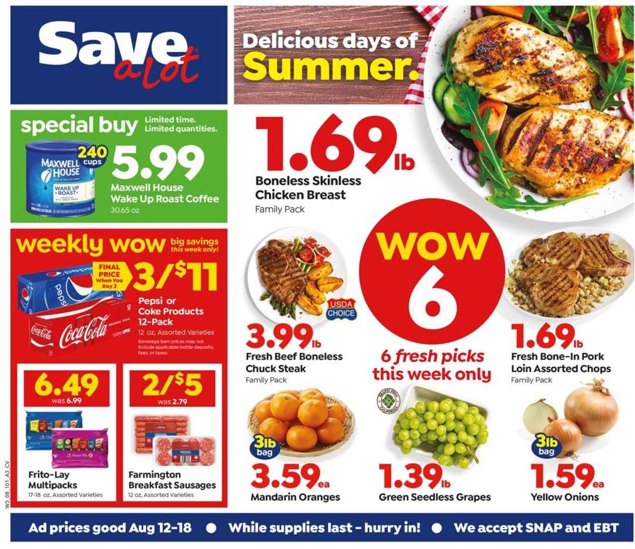 Save a Lot Weekly Ad Circular - valid 08/12-08/18/2020