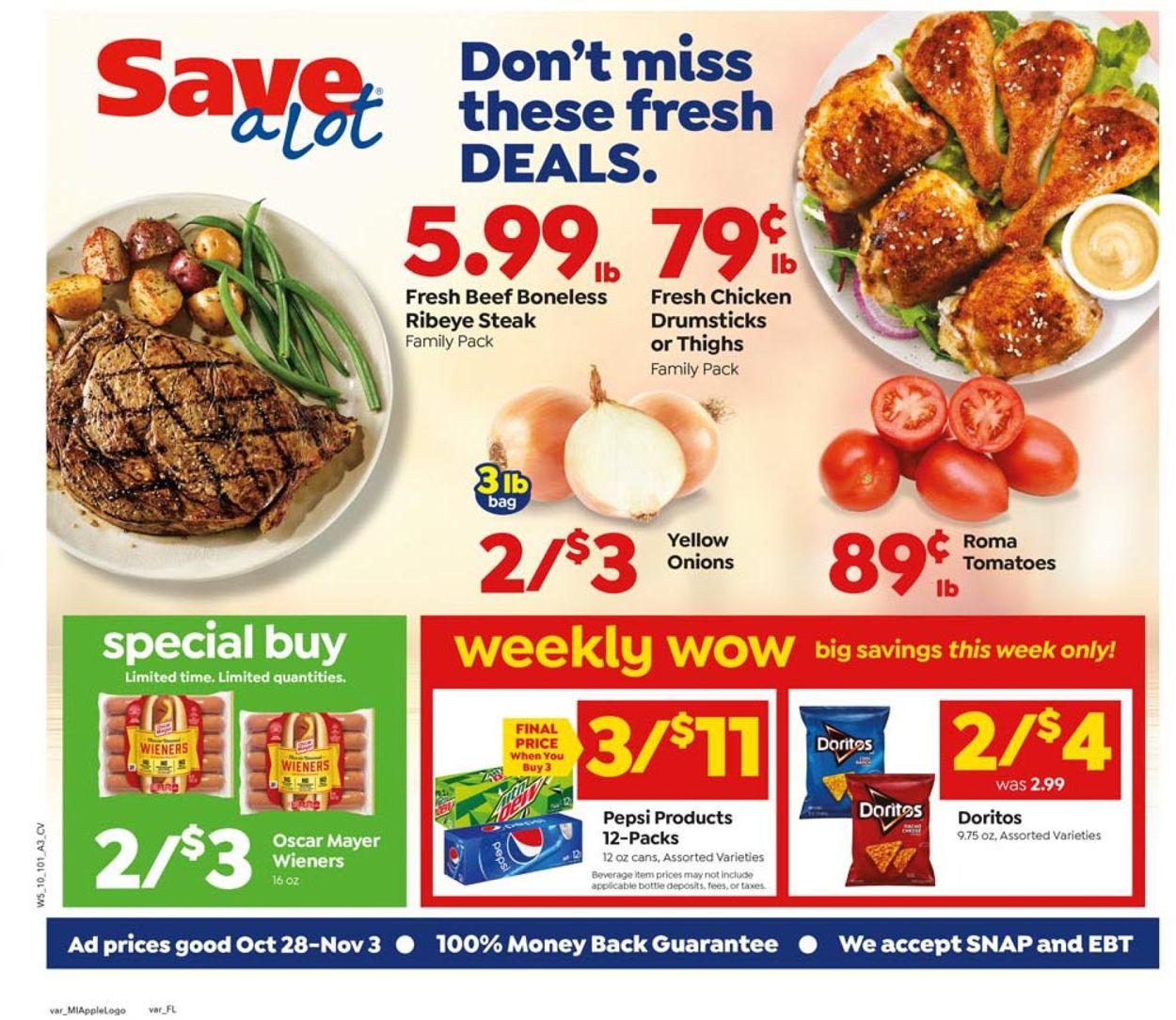 Save a Lot Weekly Ad Circular - valid 10/28-11/03/2020