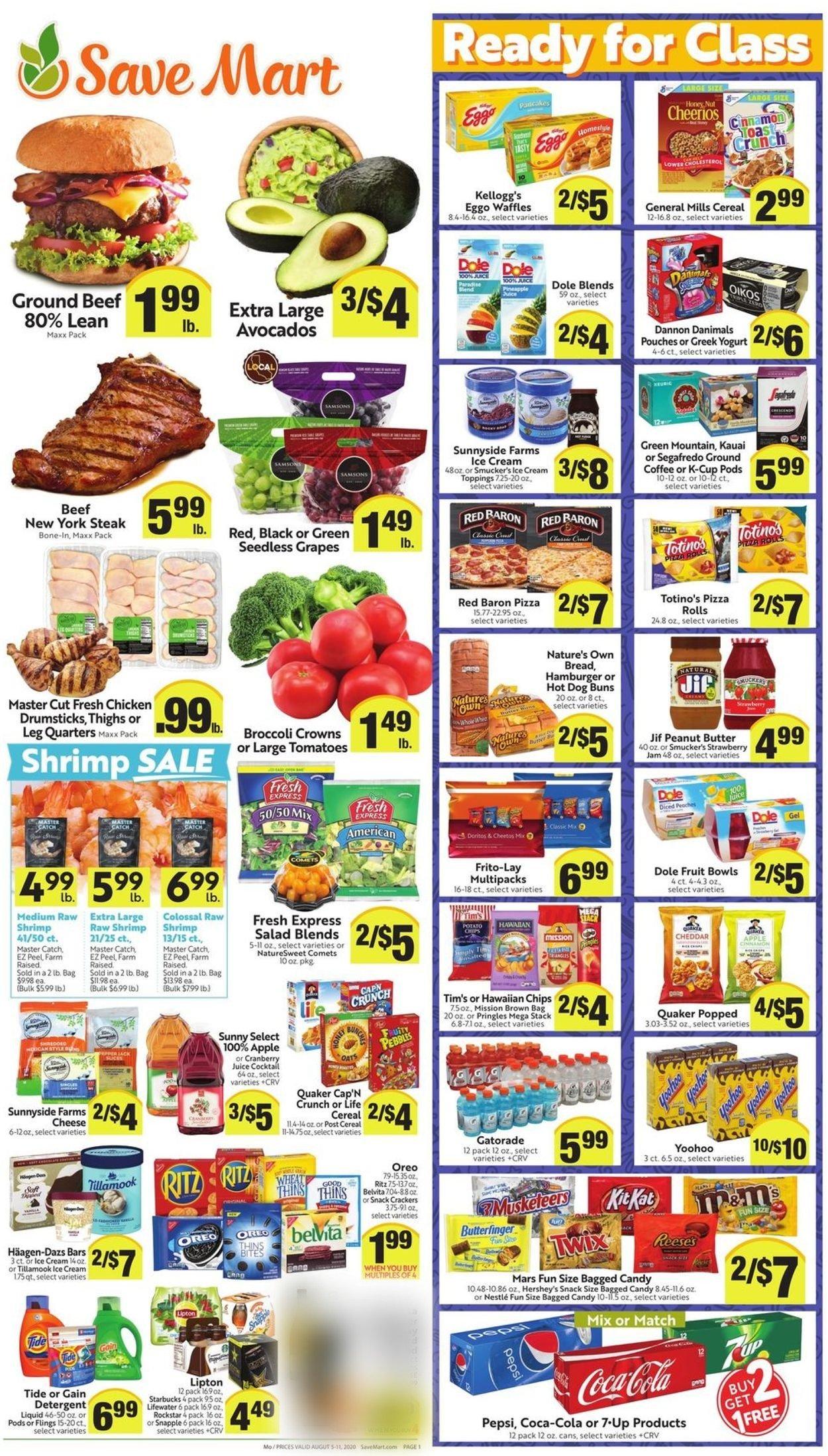 Save Mart Weekly Ad Circular - valid 08/05-08/11/2020