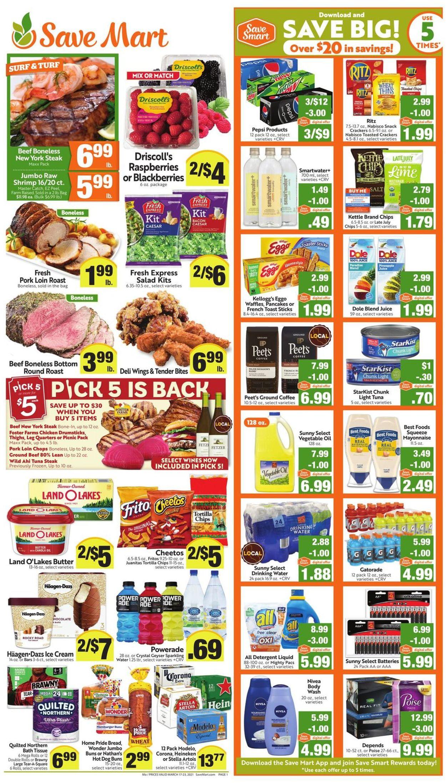 Save Mart Weekly Ad Circular - valid 03/17-03/23/2021