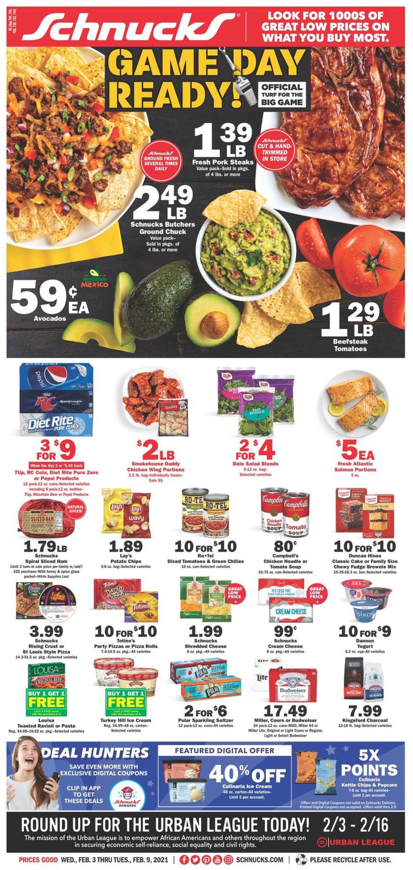 Schnucks Weekly Ad Circular - valid 02/03-02/09/2021