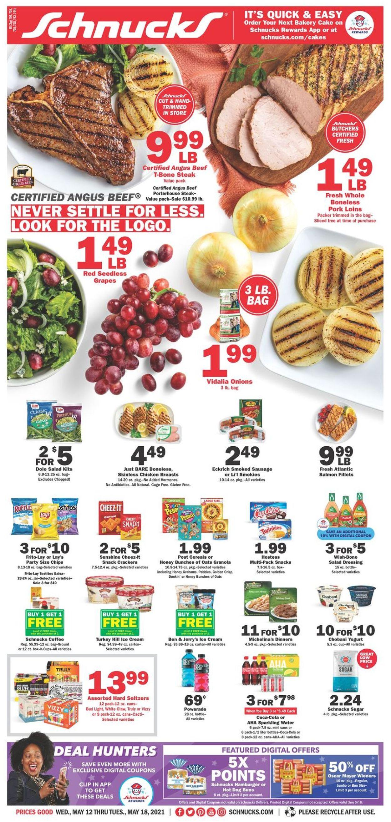 Schnucks Weekly Ad Circular - valid 05/12-05/18/2021