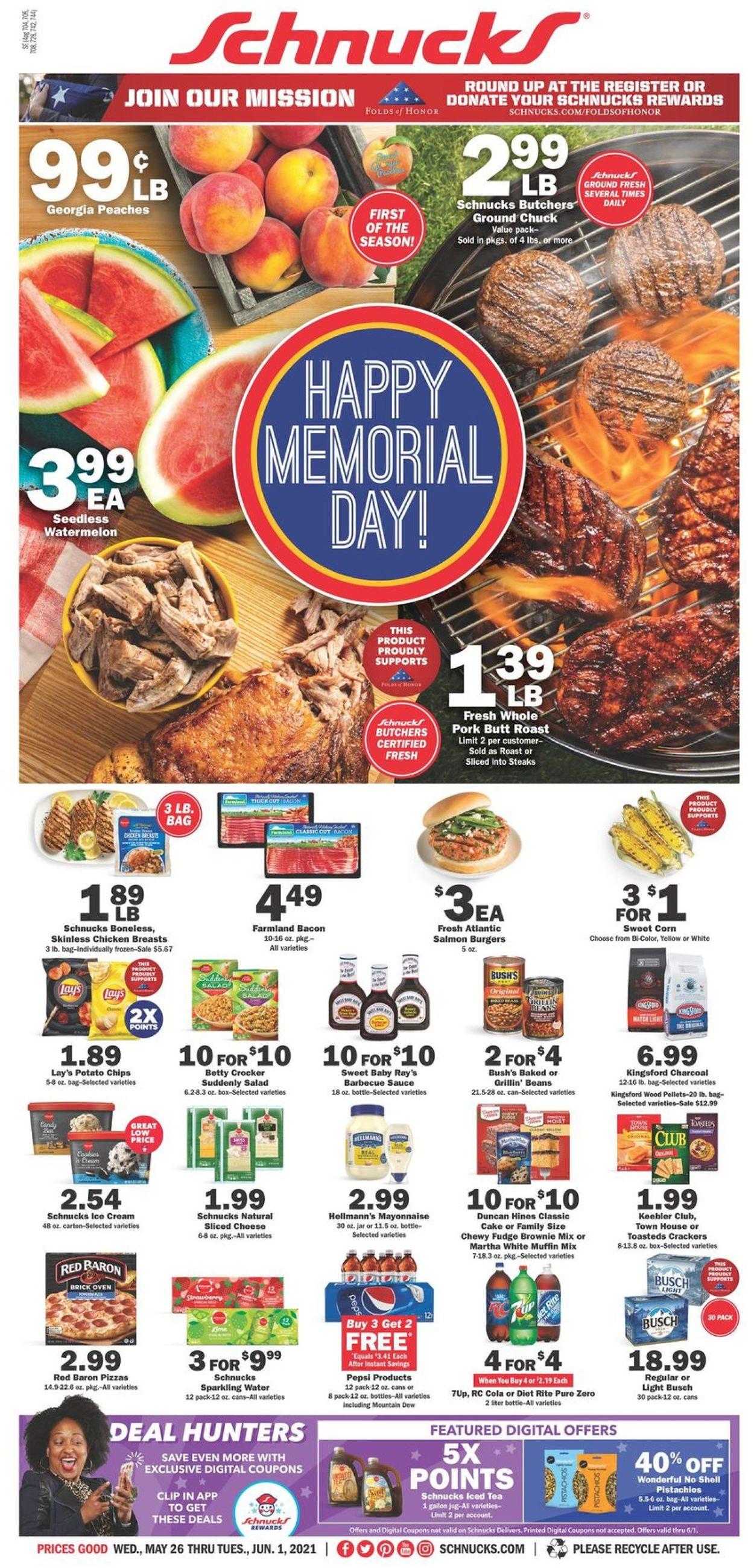 Schnucks Weekly Ad Circular - valid 05/26-06/01/2021