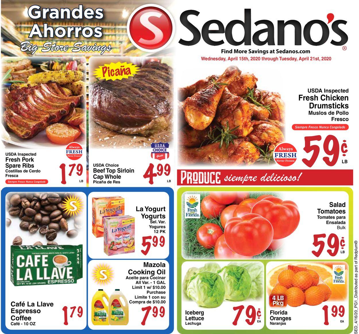 Sedano's Weekly Ad Circular - valid 04/15-04/21/2020