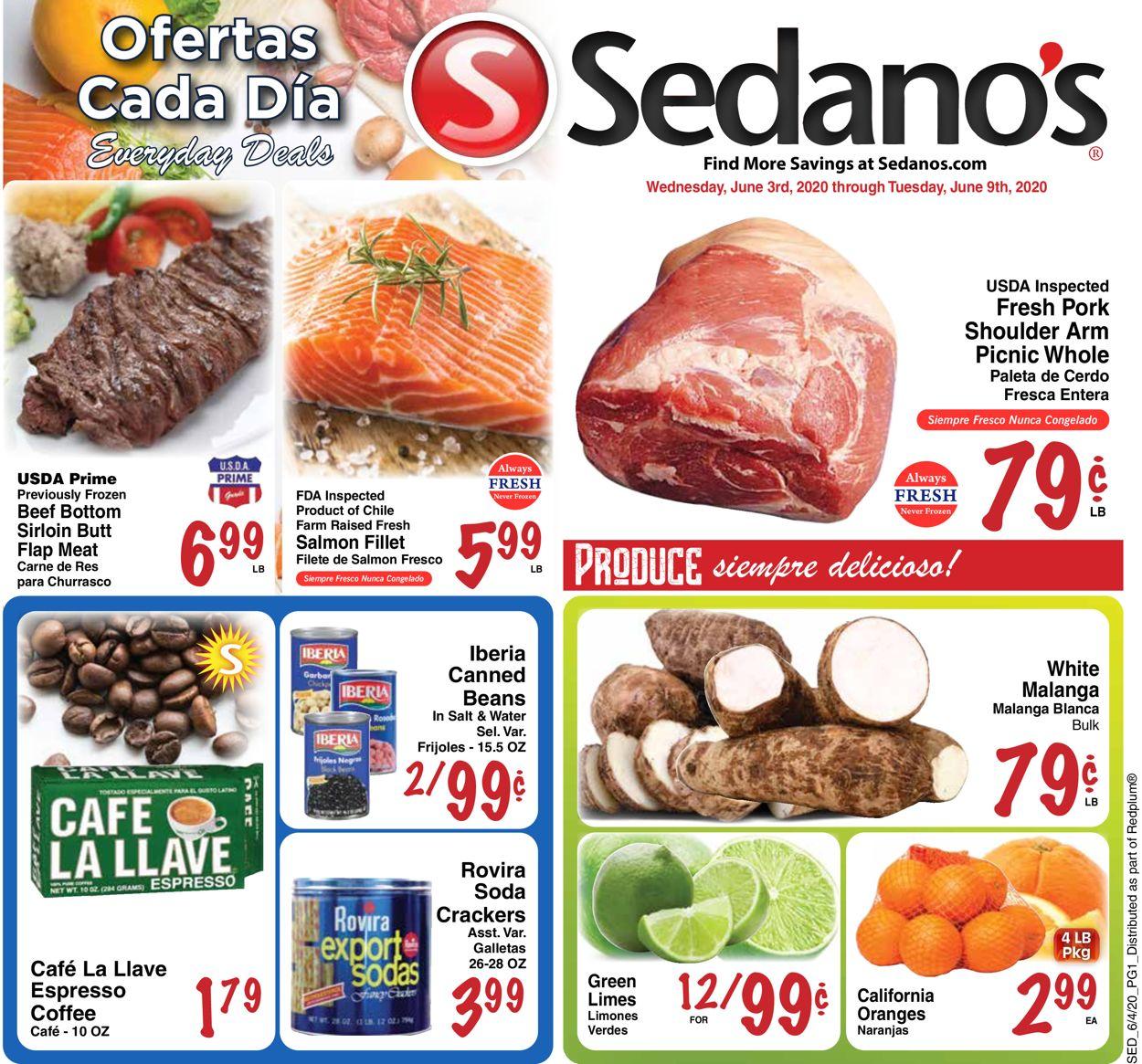 Sedano's Weekly Ad Circular - valid 06/03-06/09/2020