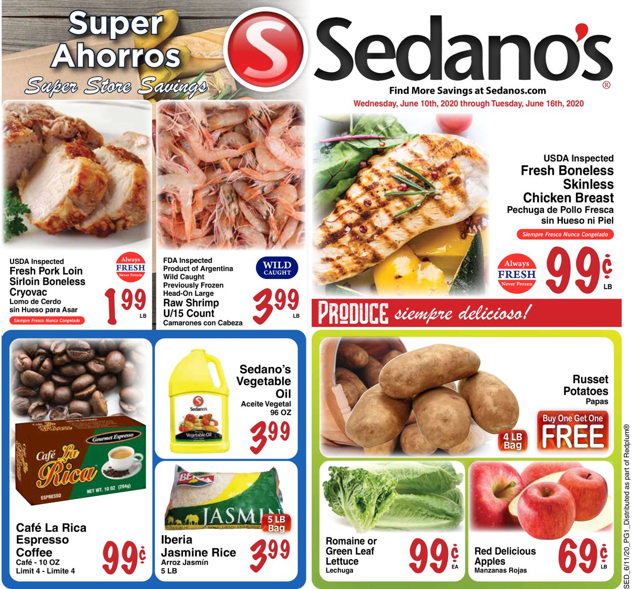 Sedano's Weekly Ad Circular - valid 06/10-06/16/2020