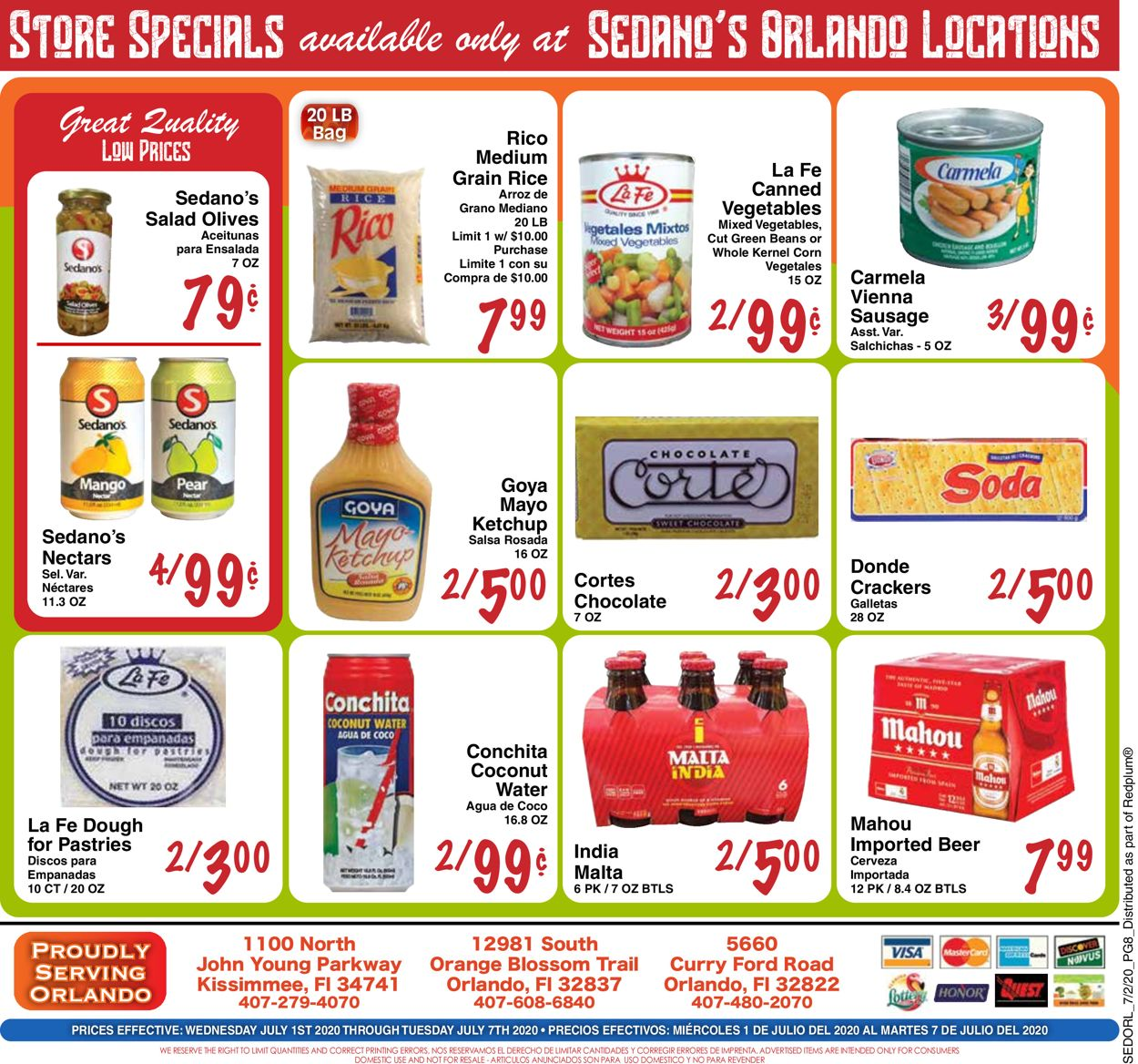 Sedano's Weekly Ad Circular - valid 07/01-07/07/2020 (Page 8)