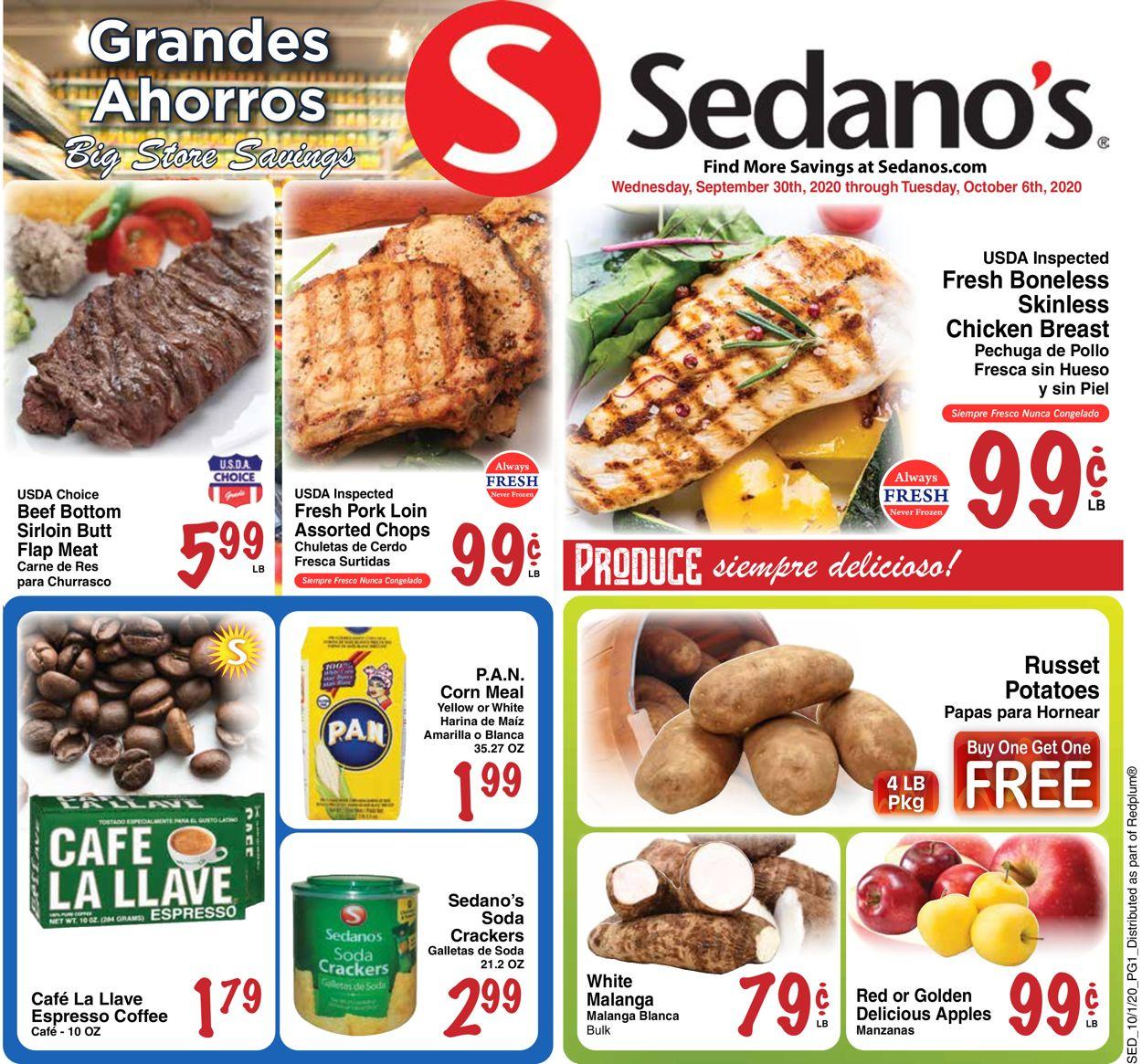 Sedano's Weekly Ad Circular - valid 09/30-10/06/2020