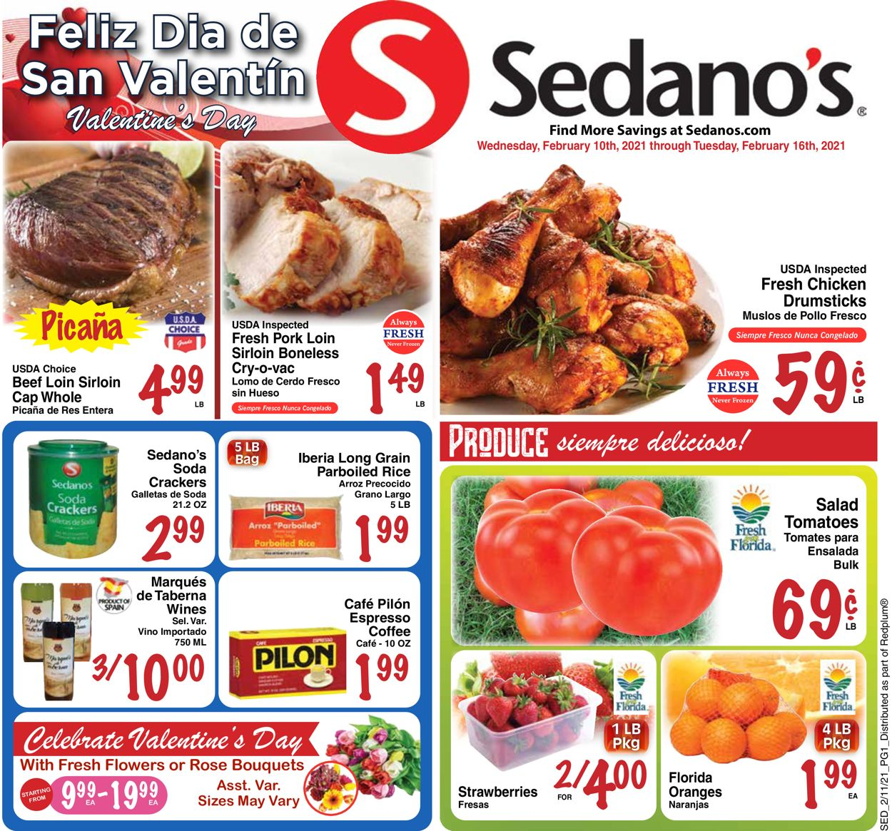 Sedano's Weekly Ad Circular - valid 02/10-02/16/2021