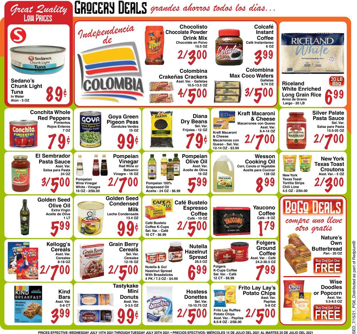 Sedano's Weekly Ad Circular - valid 07/14-07/20/2021 (Page 6)