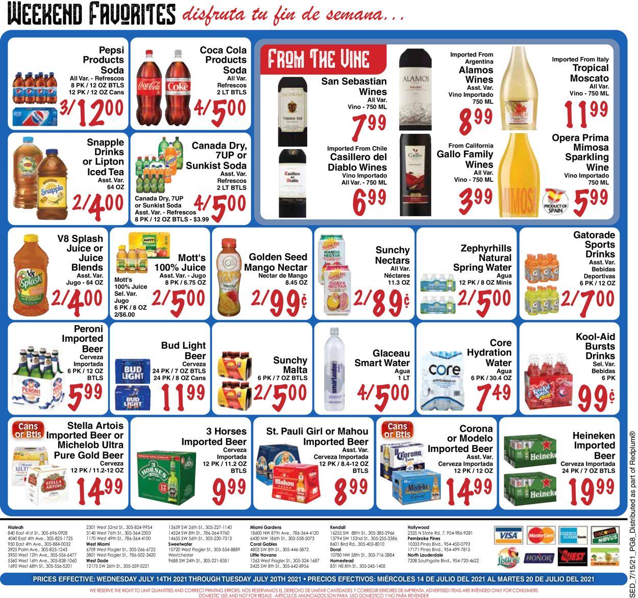 Sedano's Weekly Ad Circular - valid 07/14-07/20/2021 (Page 8)