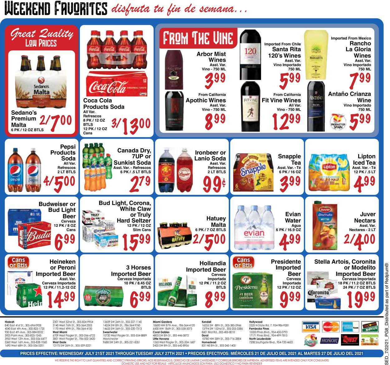 Sedano's Weekly Ad Circular - valid 07/21-07/27/2021 (Page 8)