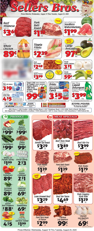 Sellers Bros. Weekly Ad Circular - valid 08/19-08/25/2020