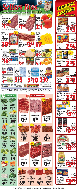 Sellers Bros. Weekly Ad Circular - valid 02/03-02/09/2021