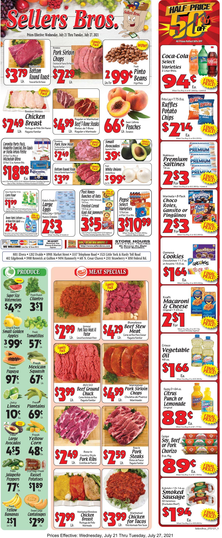 Sellers Bros. Weekly Ad Circular - valid 07/21-07/27/2021