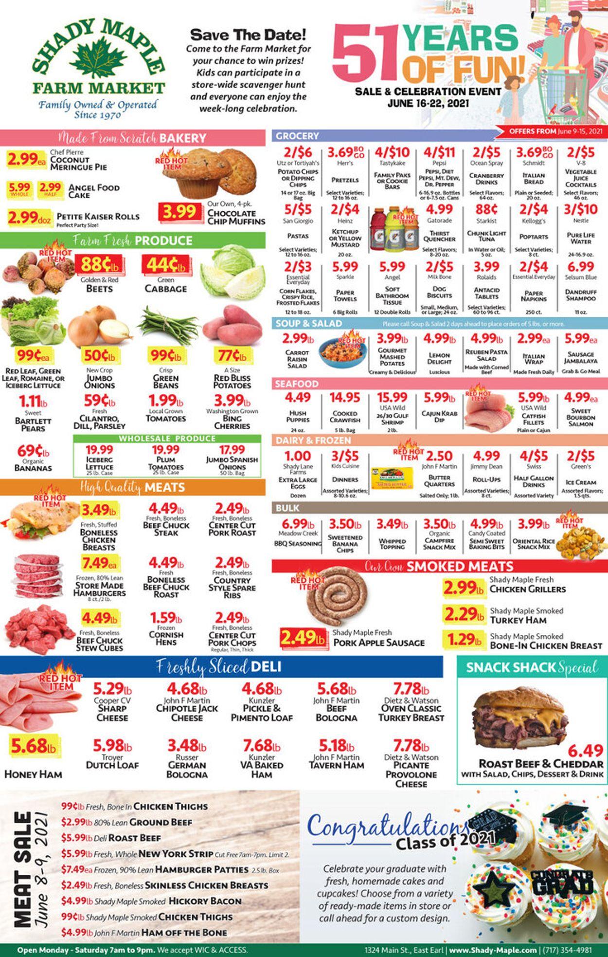 Shady Maple Weekly Ad Circular - valid 06/09-06/15/2021