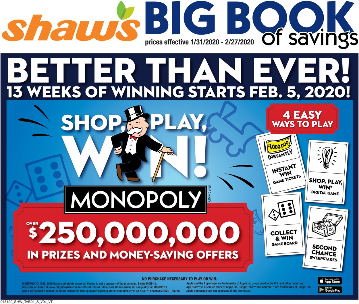 Shaw's Weekly Ad Circular - valid 01/31-02/27/2020