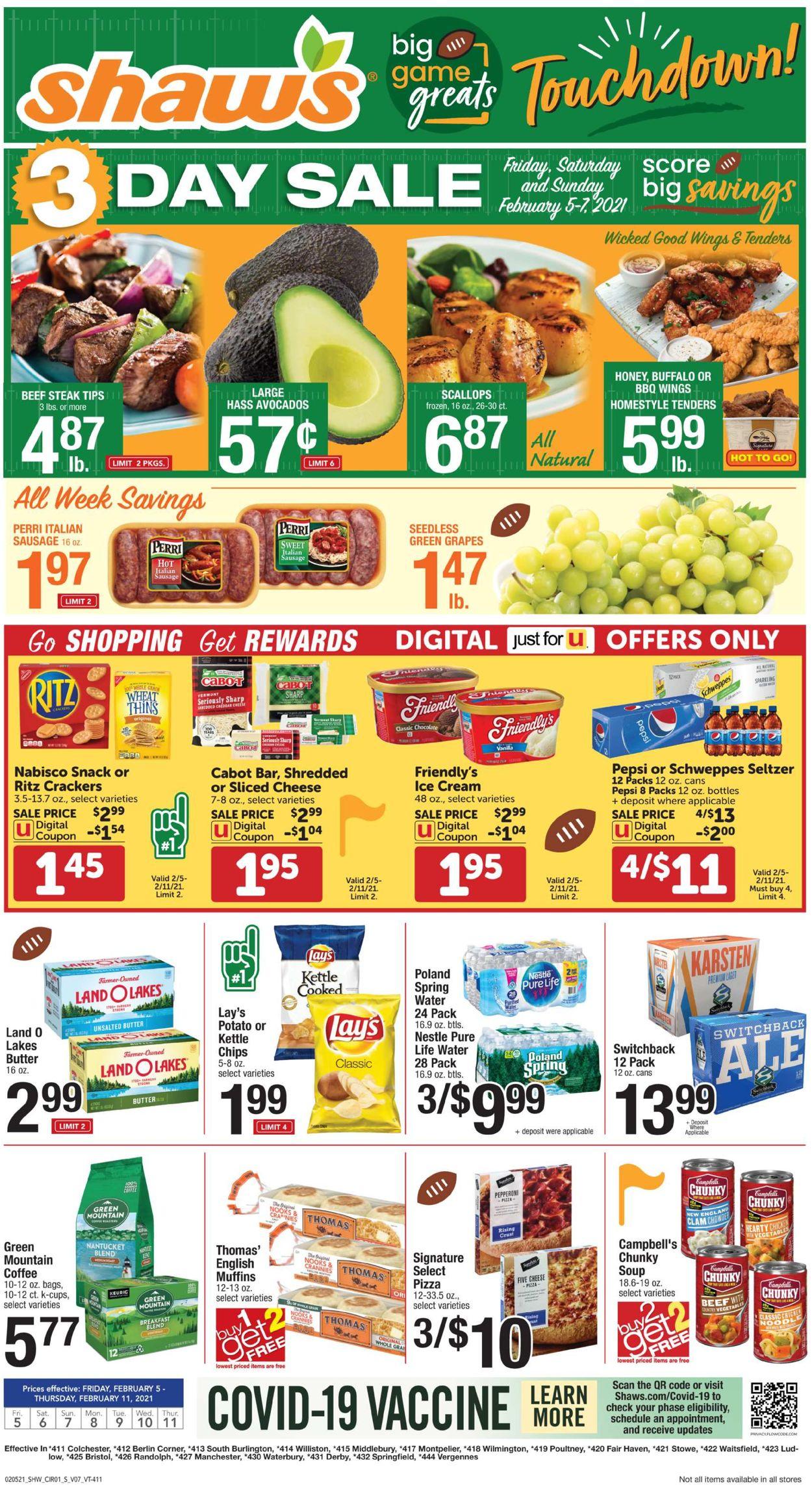 Shaw's Weekly Ad Circular - valid 02/05-02/11/2021