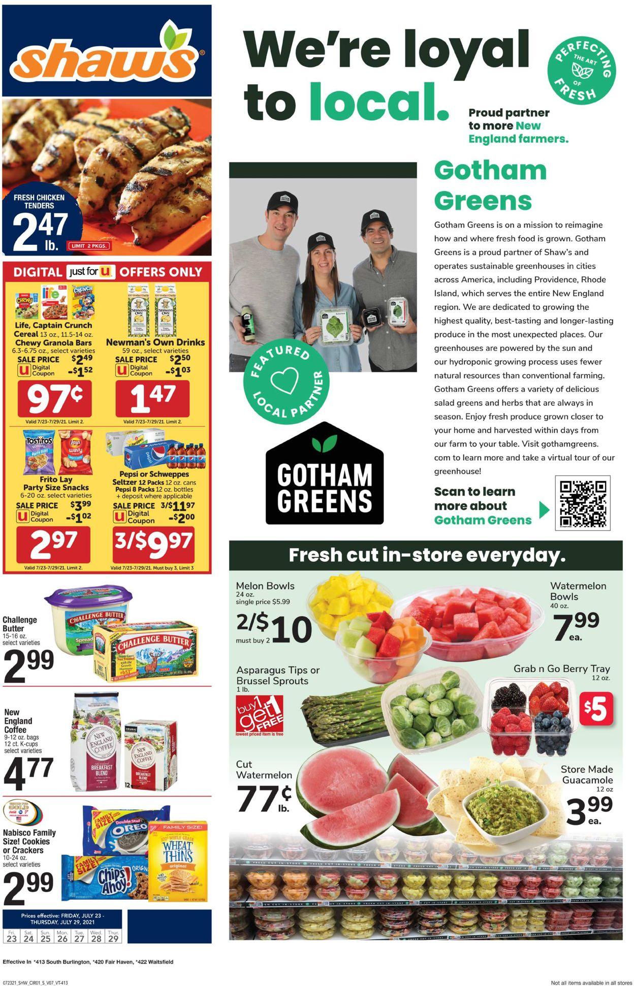 Shaw's Weekly Ad Circular - valid 07/23-07/29/2021