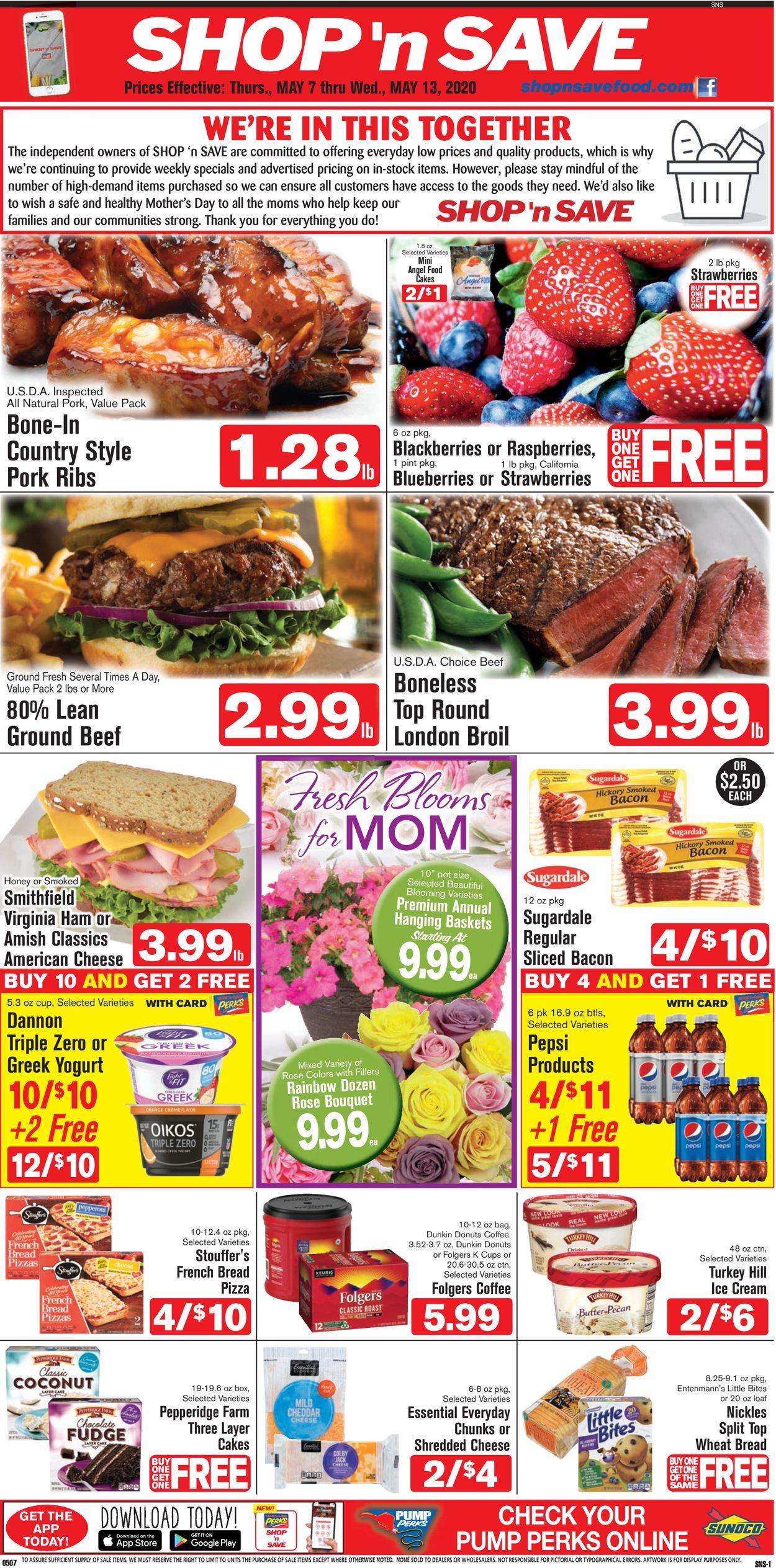 Shop 'n Save (Pittsburgh) Weekly Ad Circular - valid 05/07-05/13/2020