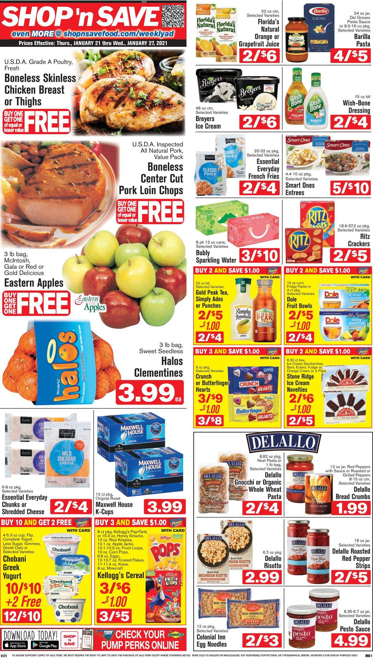Shop 'n Save (Pittsburgh) Weekly Ad Circular - valid 01/21-01/27/2021