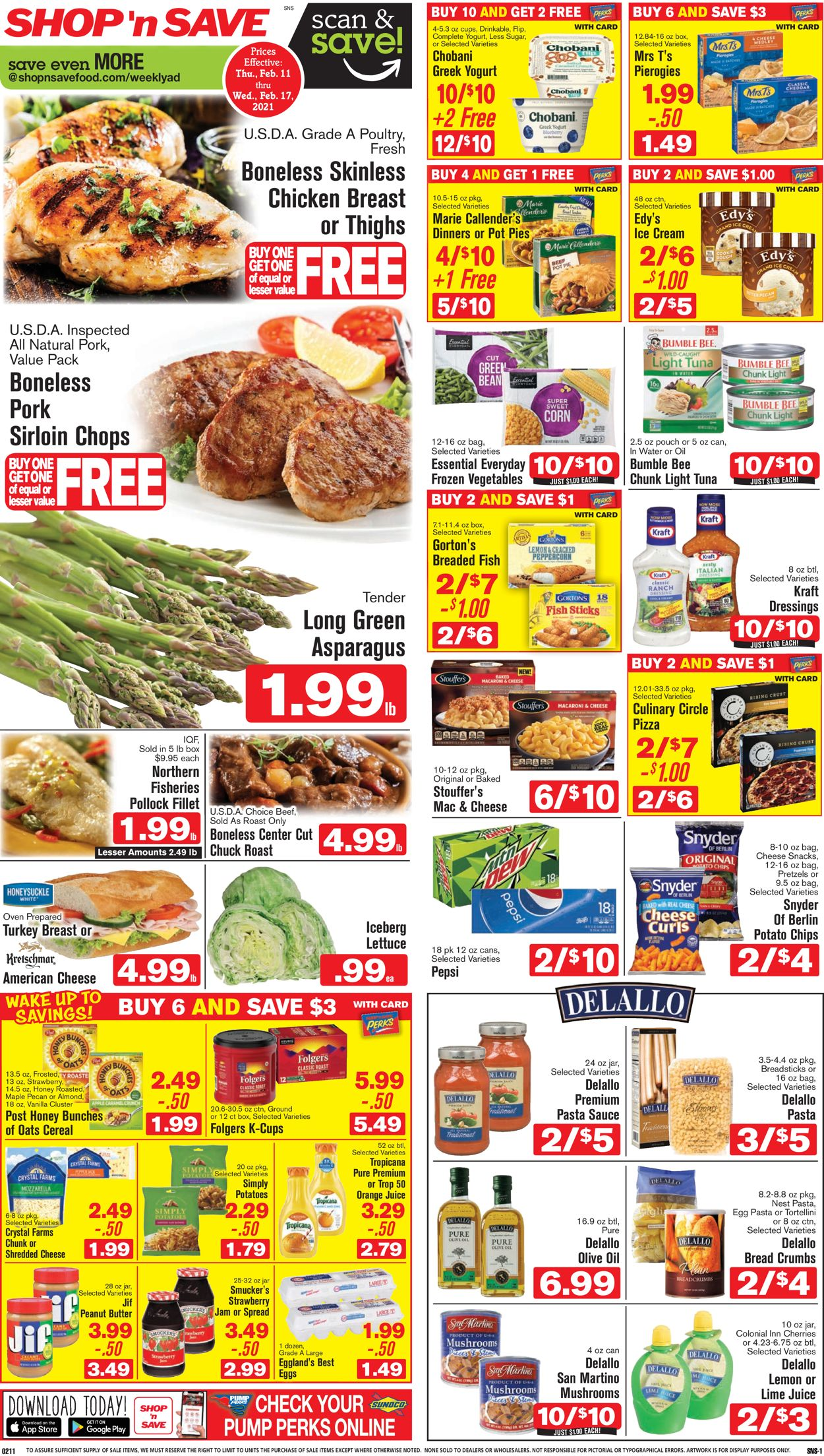 Shop 'n Save (Pittsburgh) Weekly Ad Circular - valid 02/11-02/17/2021