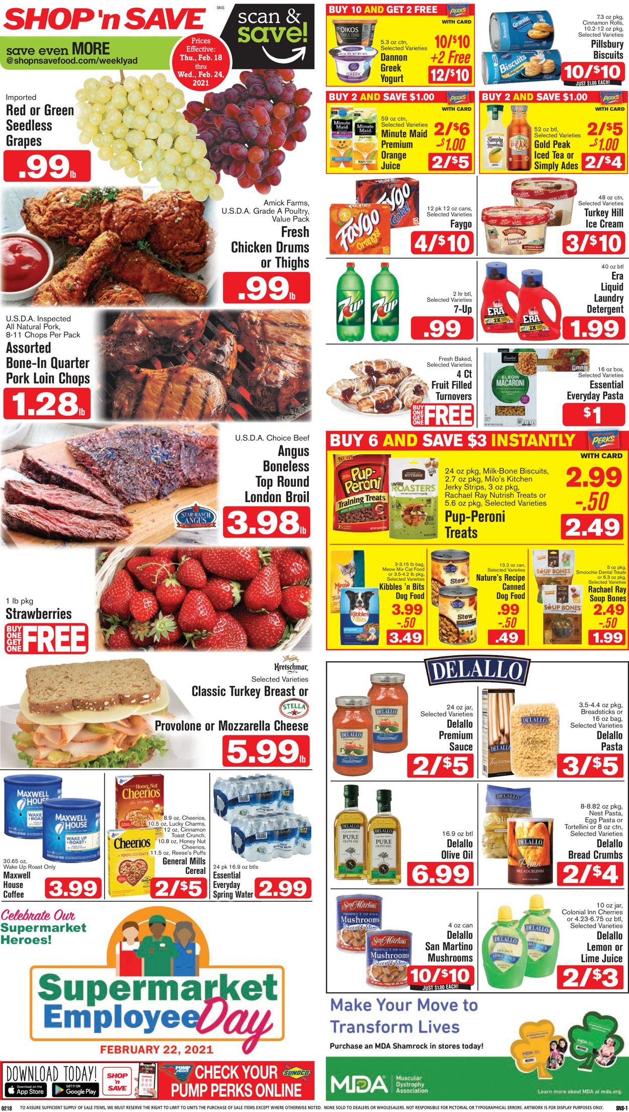 Shop 'n Save (Pittsburgh) Weekly Ad Circular - valid 02/18-02/24/2021