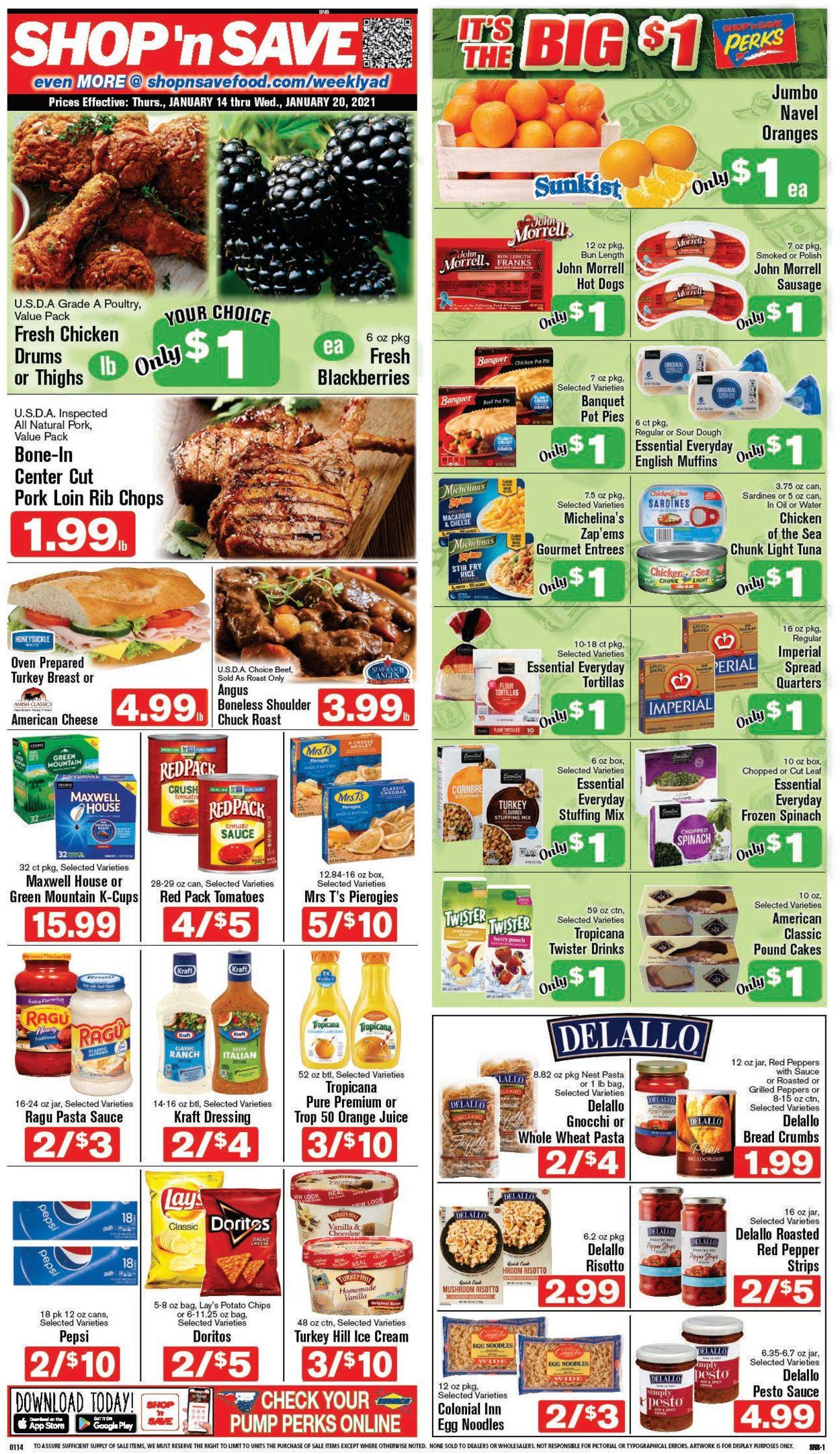 Shop 'n Save Weekly Ad Circular - valid 01/14-01/20/2021