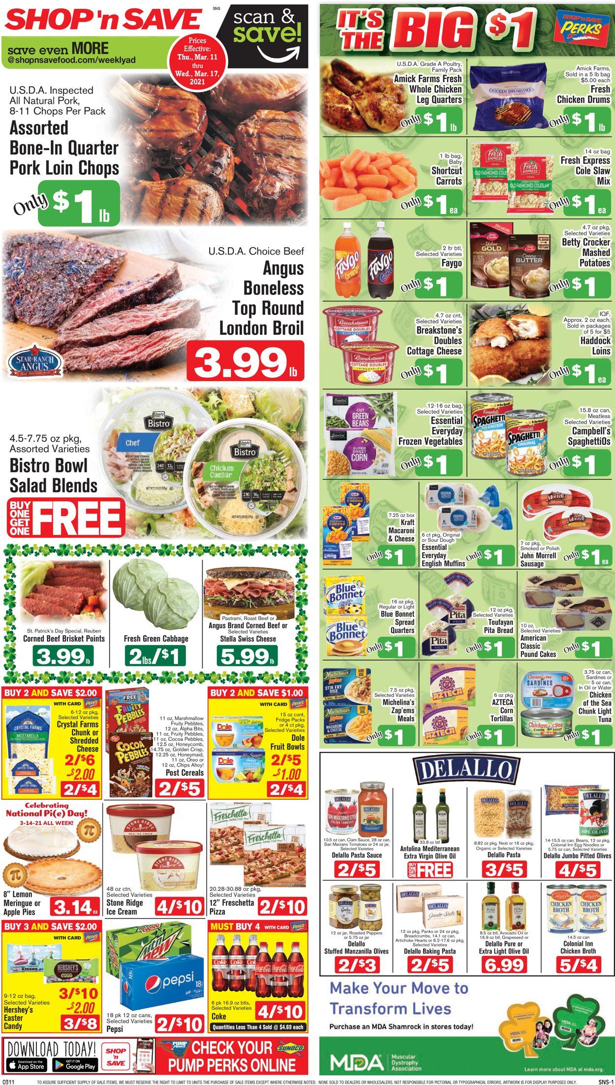 Shop 'n Save Weekly Ad Circular - valid 03/11-03/17/2021