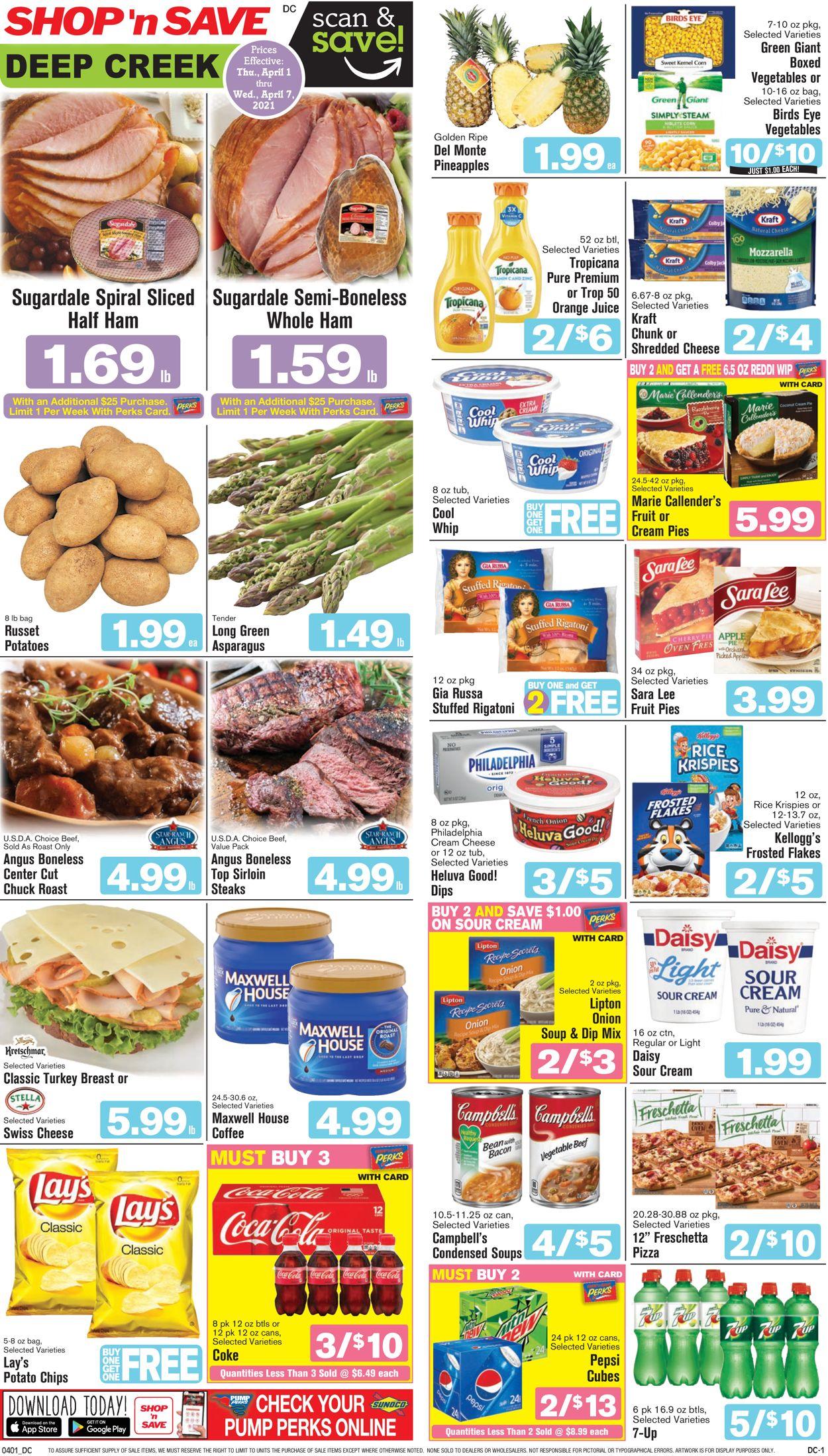 Shop 'n Save - Easter 2021 Weekly Ad Circular - valid 04/01-04/07/2021