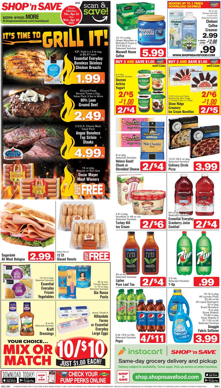 Shop 'n Save Weekly Ad Circular - valid 04/22-04/28/2021