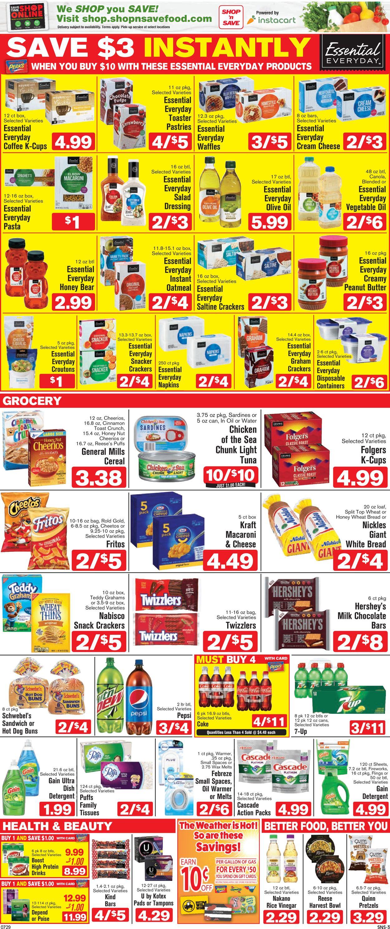 Shop 'n Save Weekly Ad Circular - valid 07/29-08/04/2021 (Page 3)