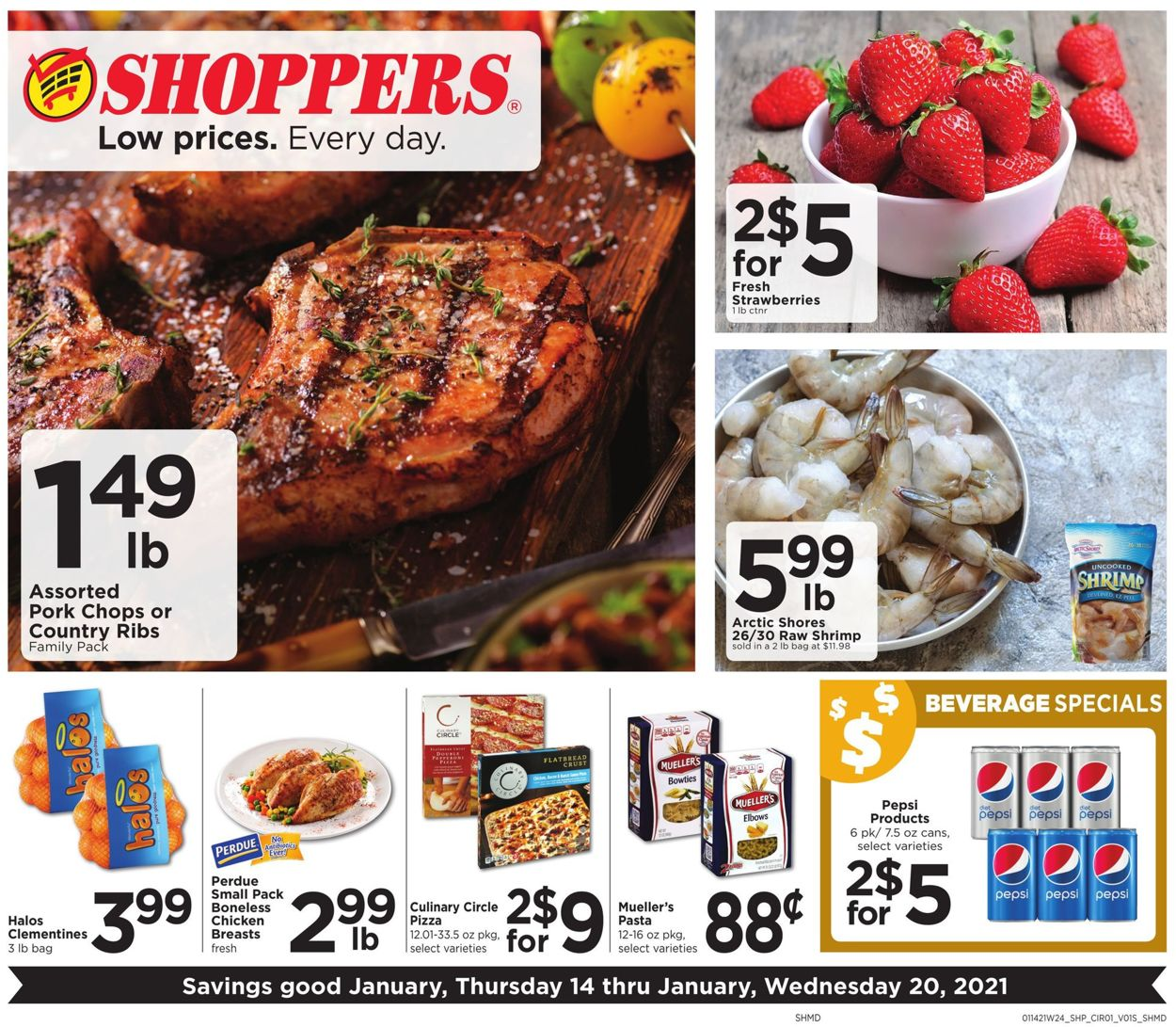 Shoppers Food & Pharmacy Weekly Ad Circular - valid 01/14-01/20/2021