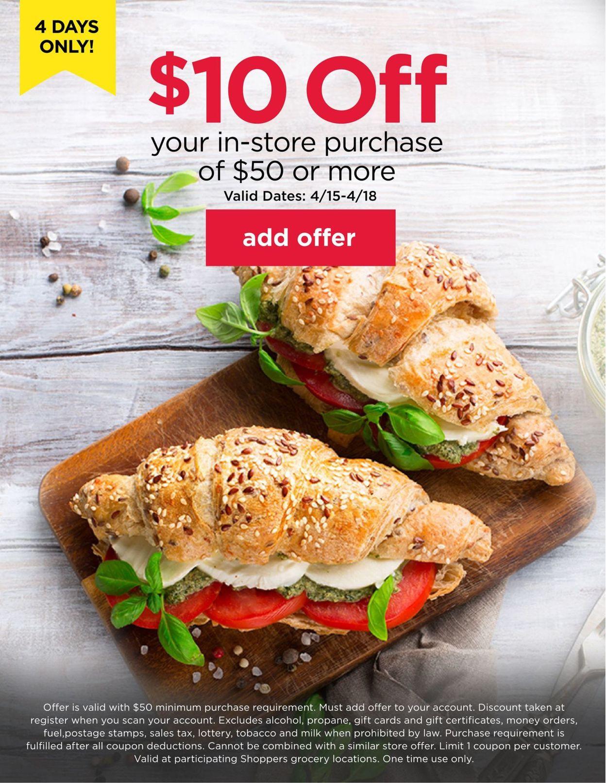 Shoppers Food & Pharmacy Weekly Ad Circular - valid 04/15-04/18/2021
