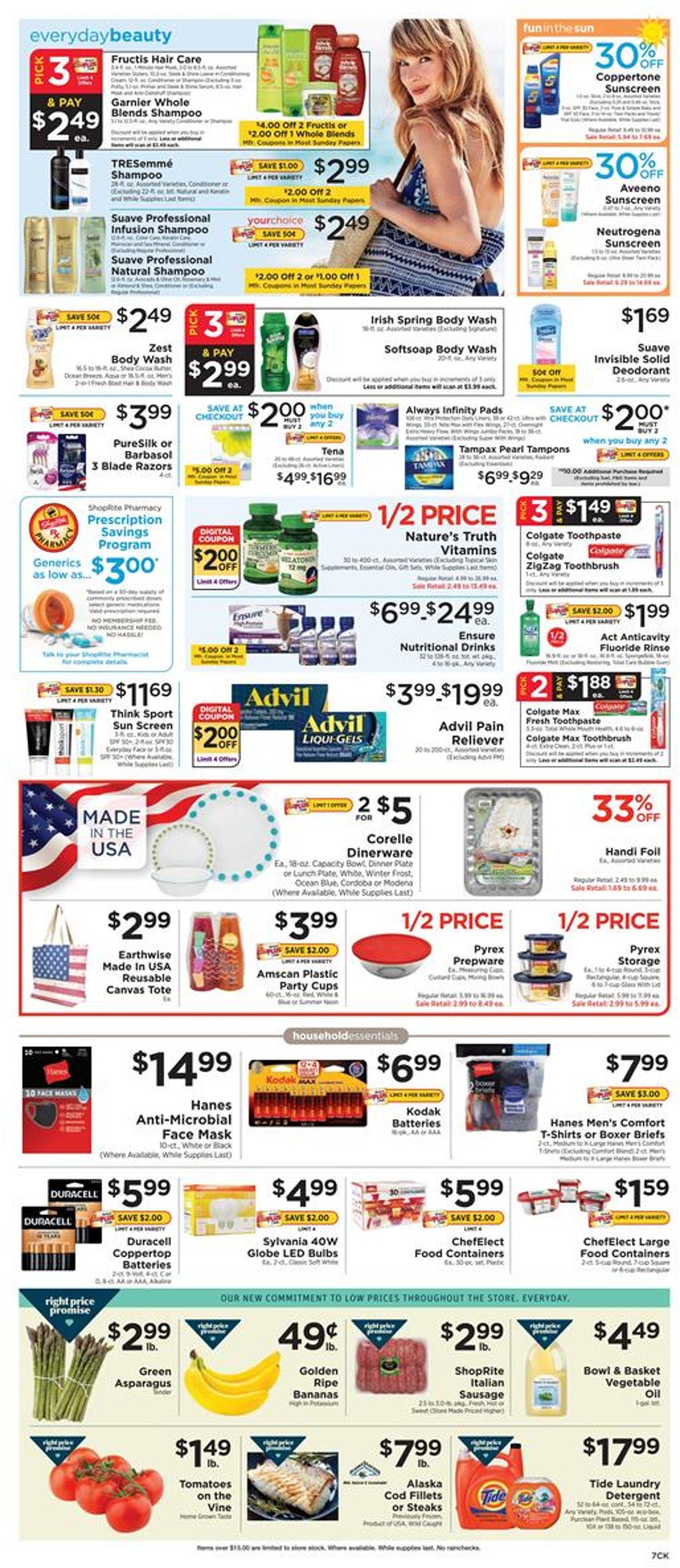 ShopRite Weekly Ad Circular - valid 06/28-07/04/2020 (Page 7)