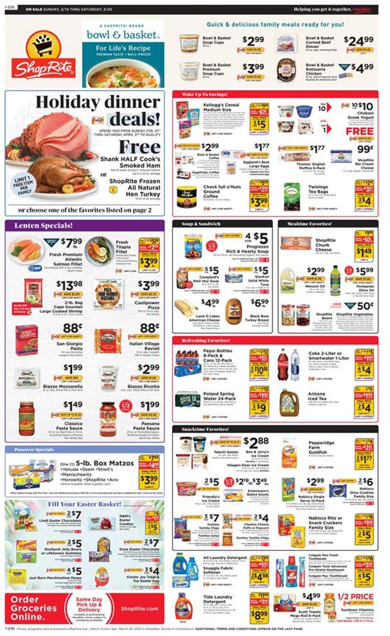 ShopRite Weekly Ad Circular - valid 03/14-03/20/2021